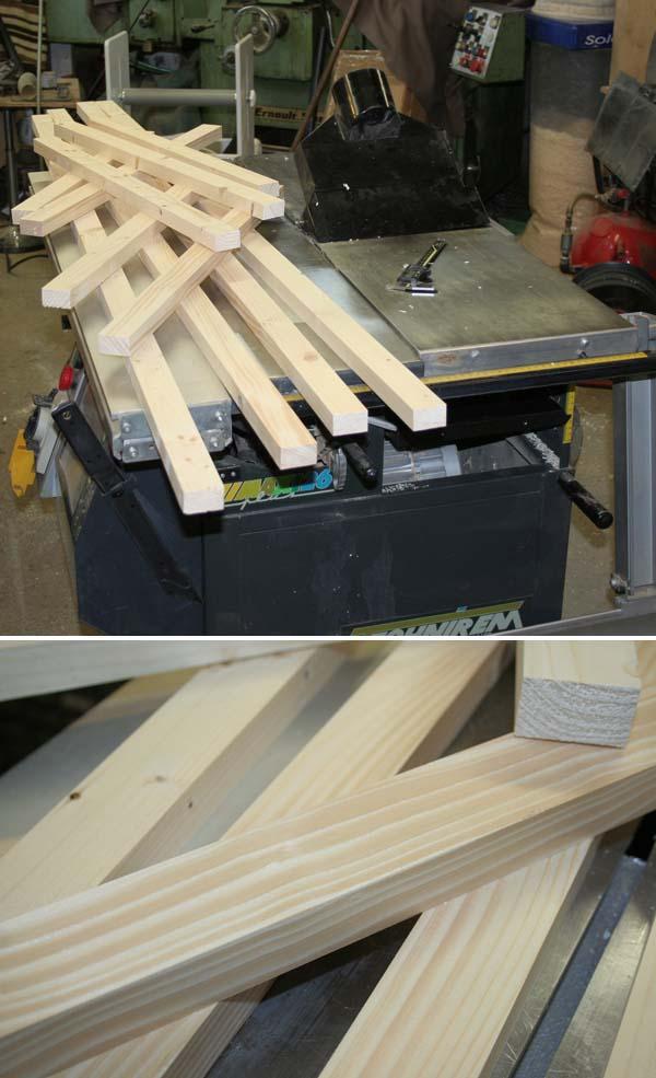 Fabrication d'une porte pliante Porte011