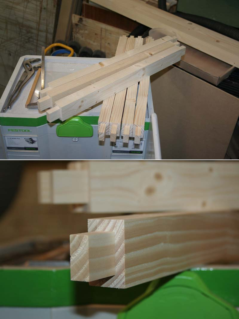 Fabrication d'une porte pliante Porte015