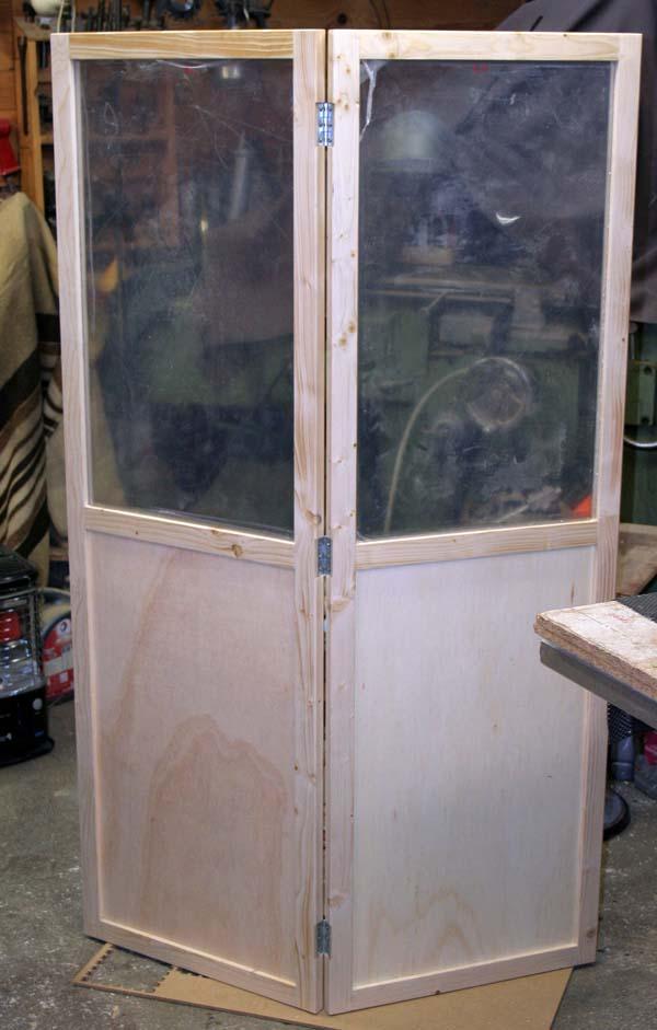 Fabrication d'une porte pliante Porte116