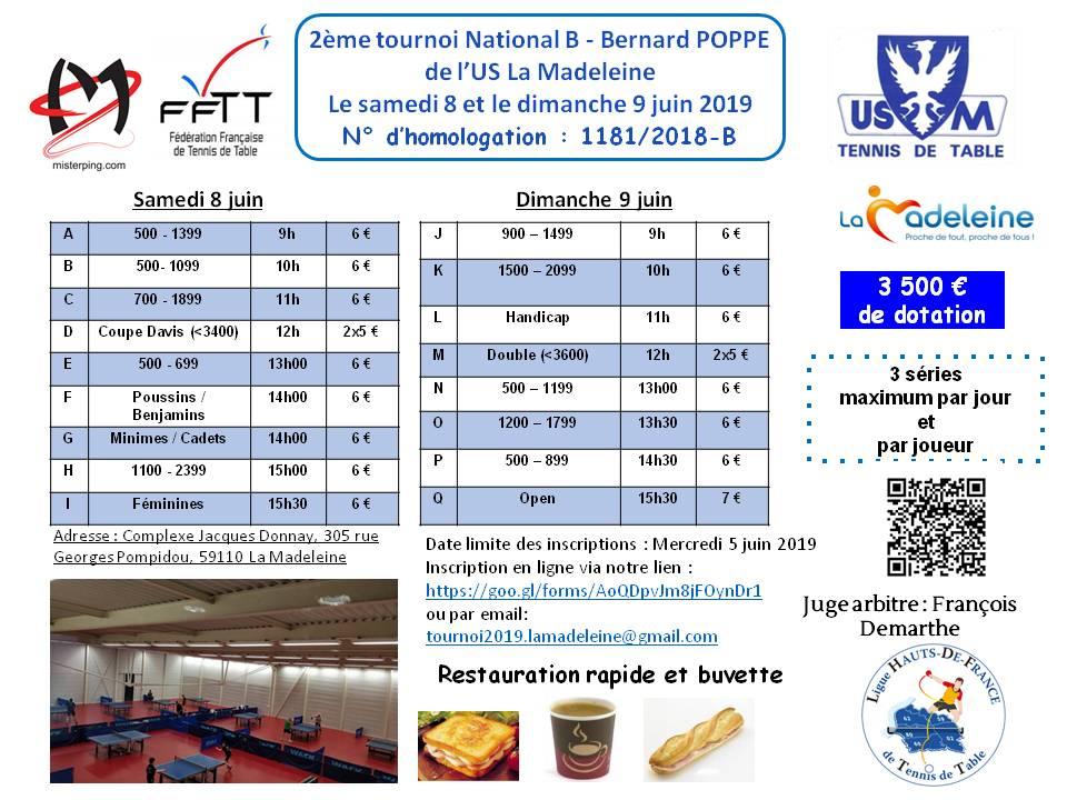 2ème Tournoi National B de l'US La Madeleine les 8 et 9 juin Affich11