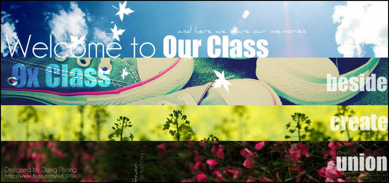 X Class (for 16) - And here We share our memories
