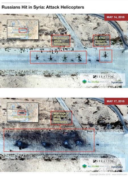 Quatre hélicoptères russes Mi-24 détruits lors de l'attaque de leur base par Daesh?  T4-20110