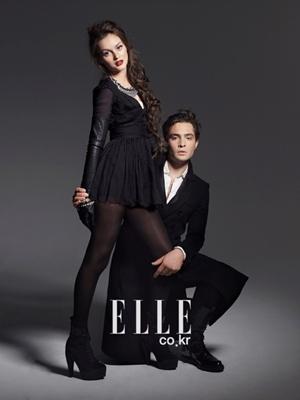 Leighton y Ed posan para Elle 000310