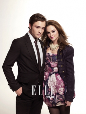 Leighton y Ed posan para Elle Normal11