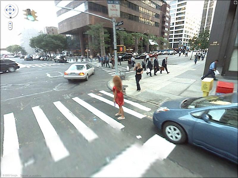 STREET VIEW : New-Yorkaise pas réveillée - John St, New York, USA Sans_t34
