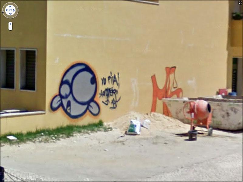 STREET VIEW : graffitis et tags vus de la Google Car Sans_t42