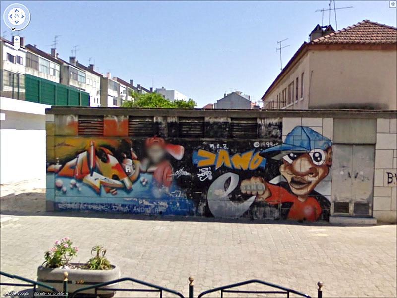STREET VIEW : graffitis et tags vus de la Google Car Sans_t44