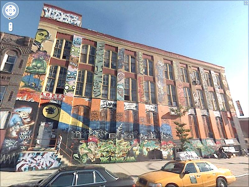 STREET VIEW : graffitis et tags vus de la Google Car Sans_t47