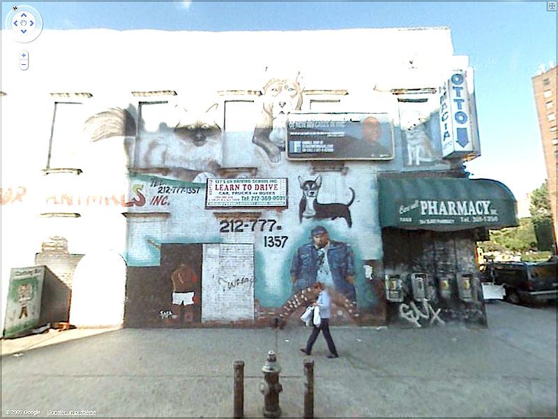 STREET VIEW : graffitis et tags vus de la Google Car Sans_t48
