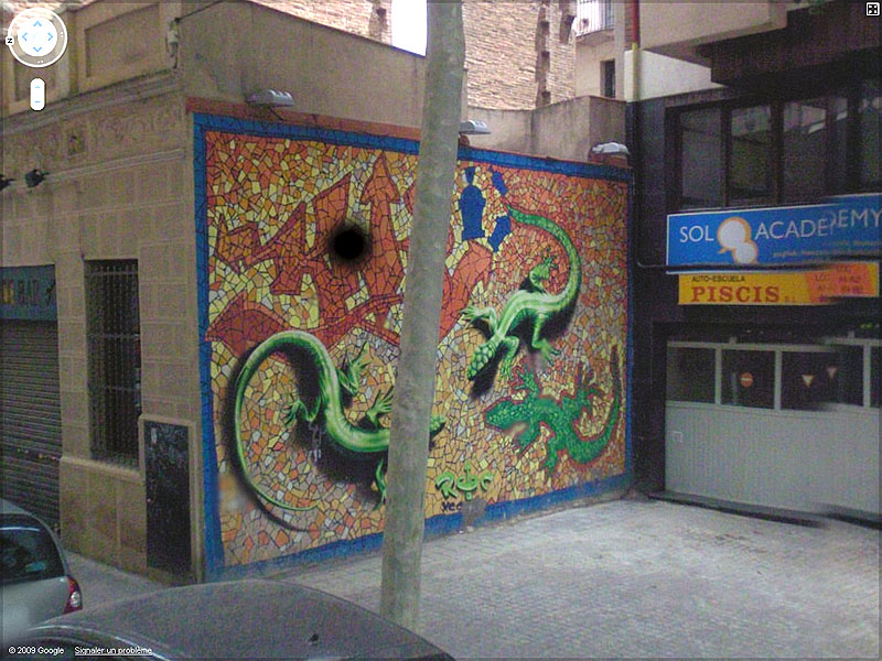 STREET VIEW : graffitis et tags vus de la Google Car Sans_t49