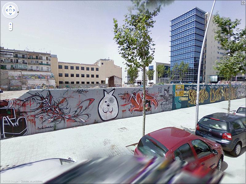 STREET VIEW : graffitis et tags vus de la Google Car Sans_t50
