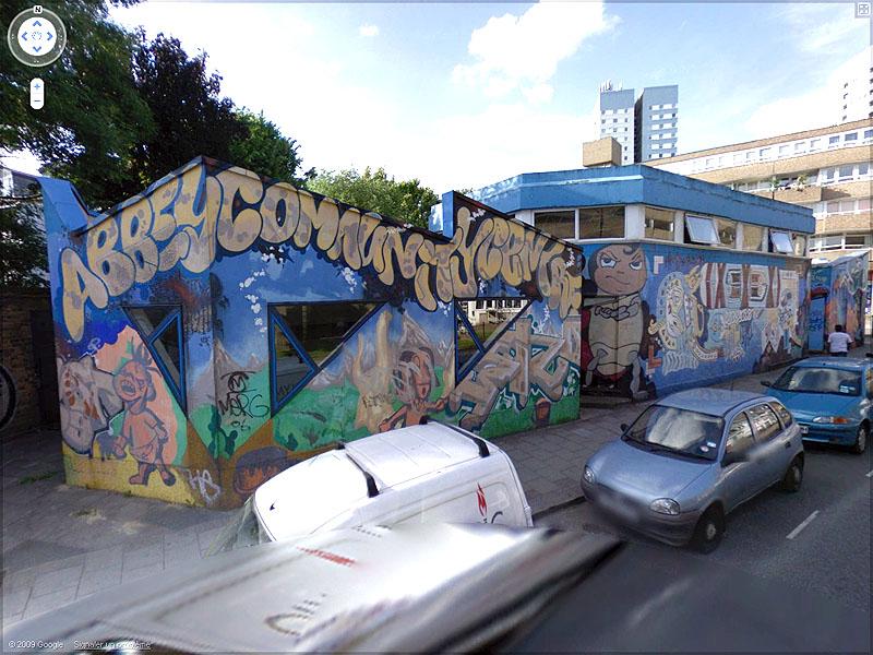 STREET VIEW : graffitis et tags vus de la Google Car - Page 2 Sans_t83
