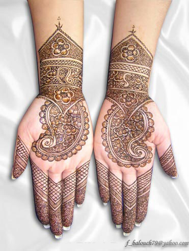 henna style for full hand Henna110