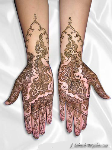 henna style for full hand Henna410