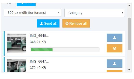 uploading photos - Improved way to add photos to your posts Sendpi10
