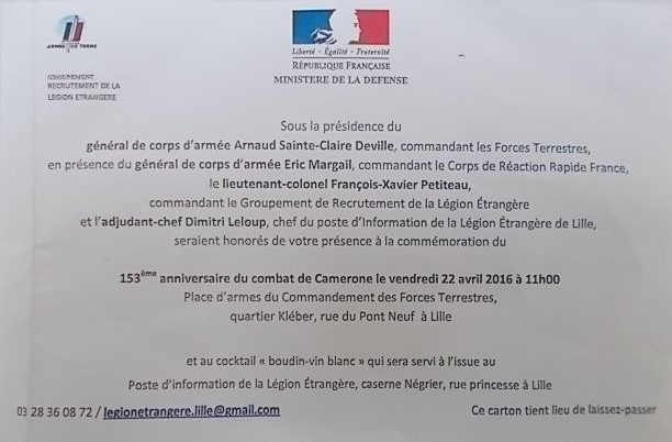 Programme CAMERONE  2 REP calvi LEGION ETRANGERE  2016 Dscn0210