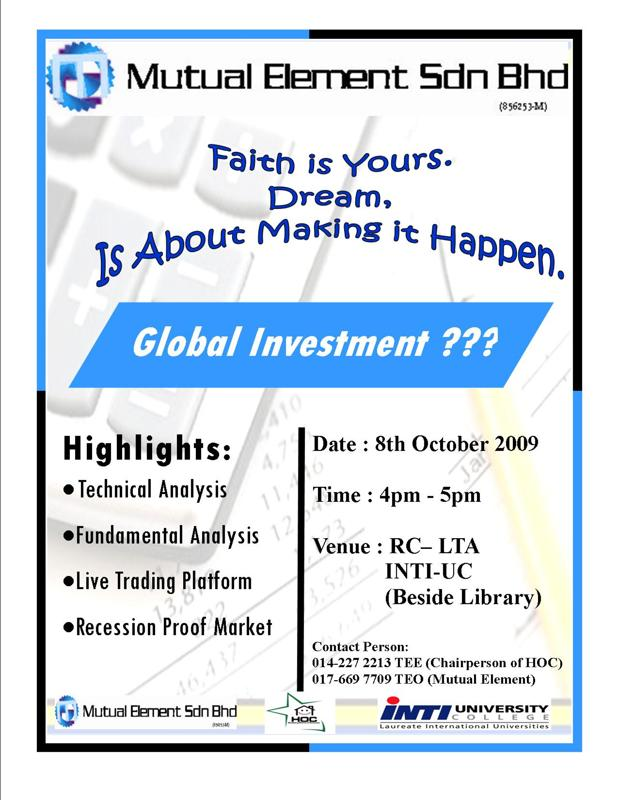 Mutual Element -Global Investment Talk 2009 Poster10
