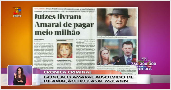 Media Comments on McCanns v. Gonçalo Amaral trial outcome 210