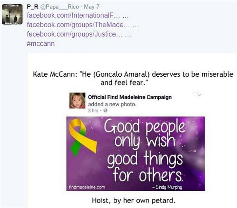 Official Find Madeleine Campaign added a new photo Hypocr10