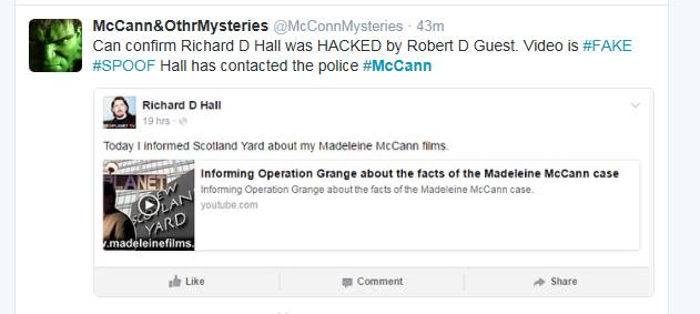 Richard D. Hall: Informing Operation Grange about the facts of the Madeleine McCann case Rdh10