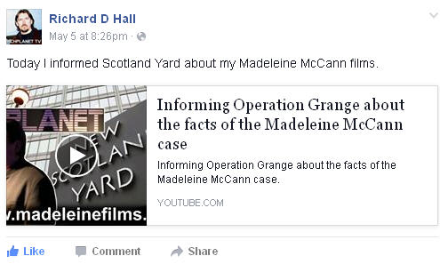 Richard D. Hall: Informing Operation Grange about the facts of the Madeleine McCann case Rdh11