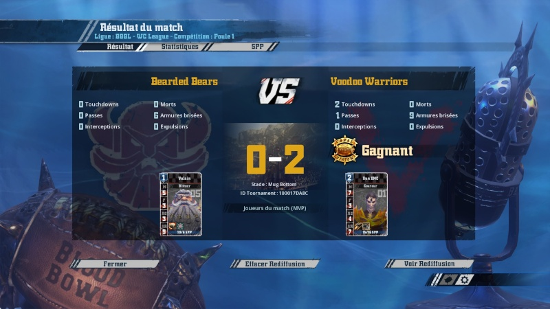 [J7] Bearded Bears (Captain Toth) 0-2 Voodoo Warriors (Voodoo) 20160312
