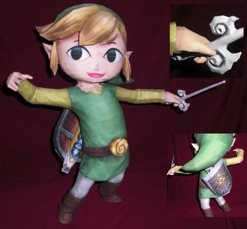 L'art du papercraft avec Zelda Toonli10