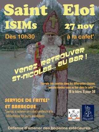 Saint-Eloi @ ISIMs (27 novembre) Affich11