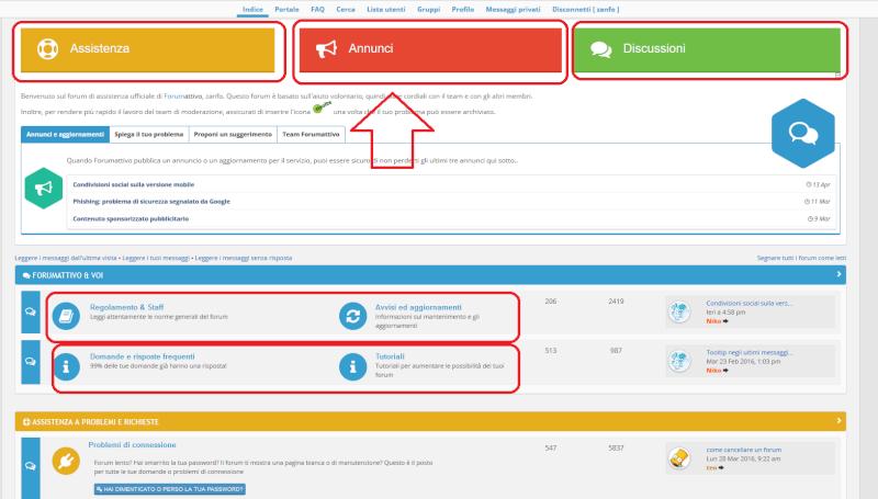 """Inserimento """"bottoni"""" specifici, tema di questo forum, impostazione categorie Forum_10"""