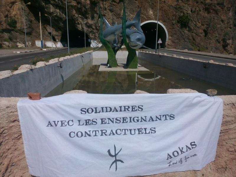 Rassemblement de Soutien aux enseignants contractuels à Aokas 117