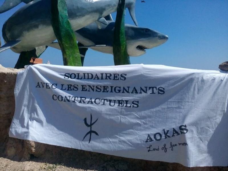 Rassemblement de Soutien aux enseignants contractuels à Aokas 119
