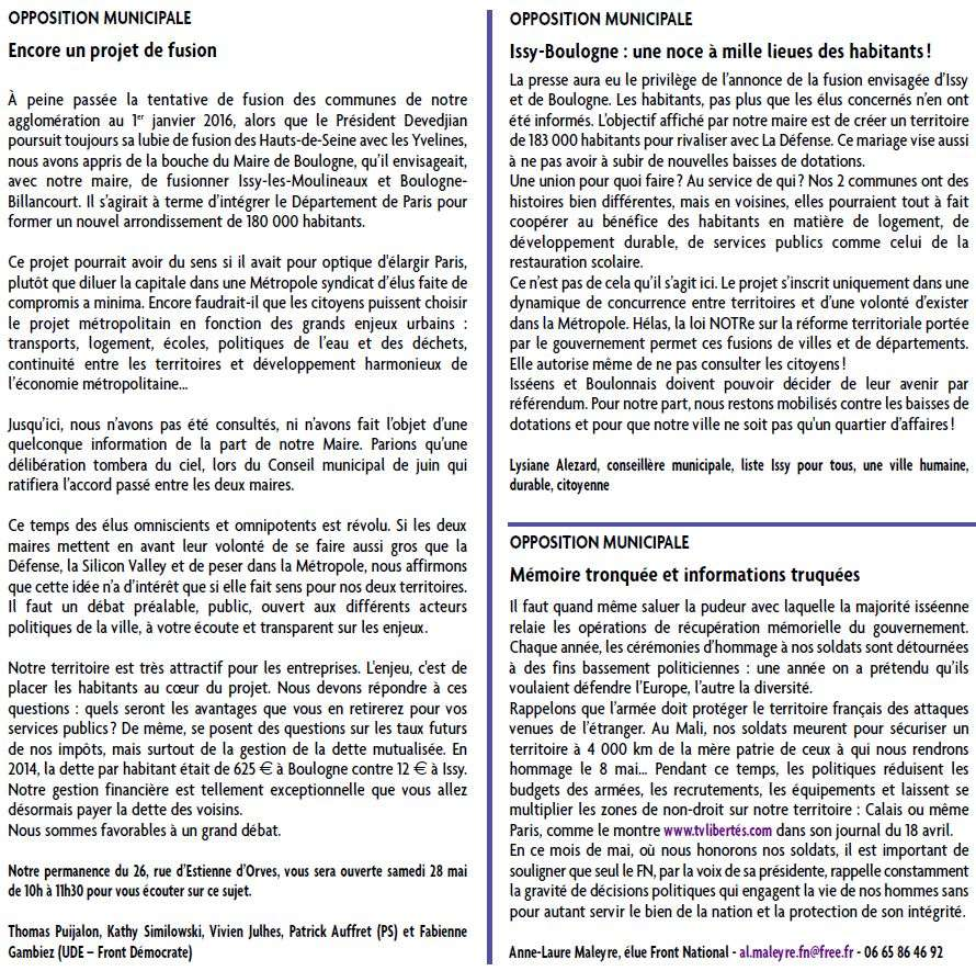 Fusion / mariage de Boulogne-Billancourt et d'Issy-les-Moulineaux - Page 2 Point_10