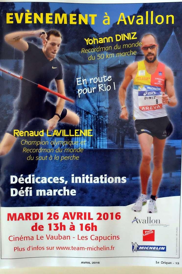 Yohann DINIZ et Renaud LAVILLENIE à Avallon le 26 avril S0024911