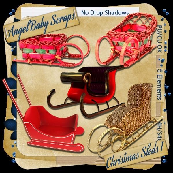 Christmas Sled Freebie Pack 1 _previ13