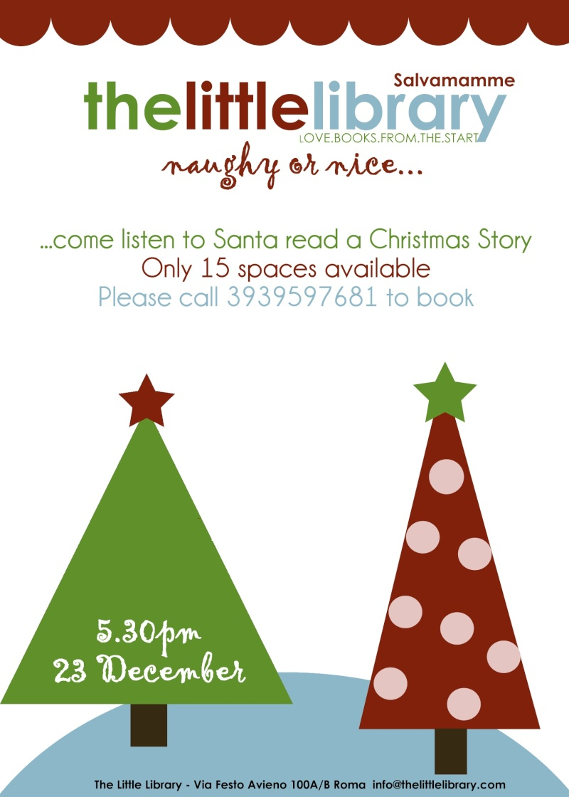 Bring your kid(s) to hear Santa read a Christmas Story Christ11