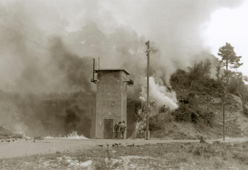 Gros-ouvrage de Roquebrune-Cornillat, entrainement sections d'assaut 1ère DFL 10672410