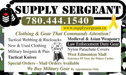 Supply Sergeant 13826910
