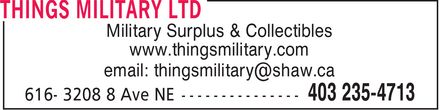 Things Military Ltd. 14117310