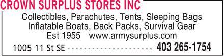 Crown Surplus Stores Inc. 14119410