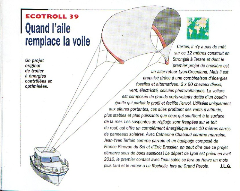traction d'engins par kite Ecotro12