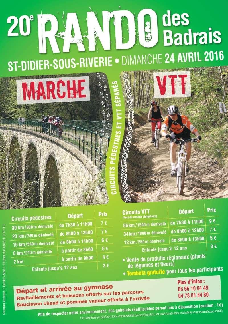 24 avril La Rando des Badrais à  Saint Didier sous Riverie Affich10