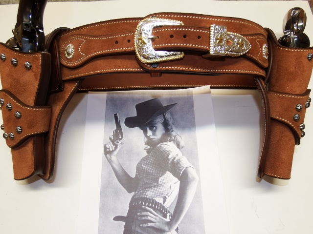 """COWBOY ACTION SHOOTING """"ROUGH OUT"""" HOLSTER by SLYE Dscf4041"""