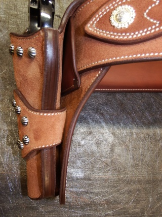 """COWBOY ACTION SHOOTING """"ROUGH OUT"""" HOLSTER by SLYE Dscf4043"""