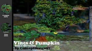 Растительность (кусты, деревья, камни) Tumblr44