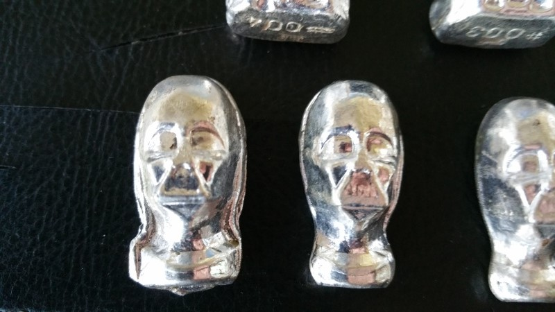 When hobbies collide - Bootleg Silver Ingots of Darth Vader and Stormtroopers Silver11