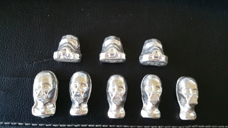 When hobbies collide - Bootleg Silver Ingots of Darth Vader and Stormtroopers Silver13