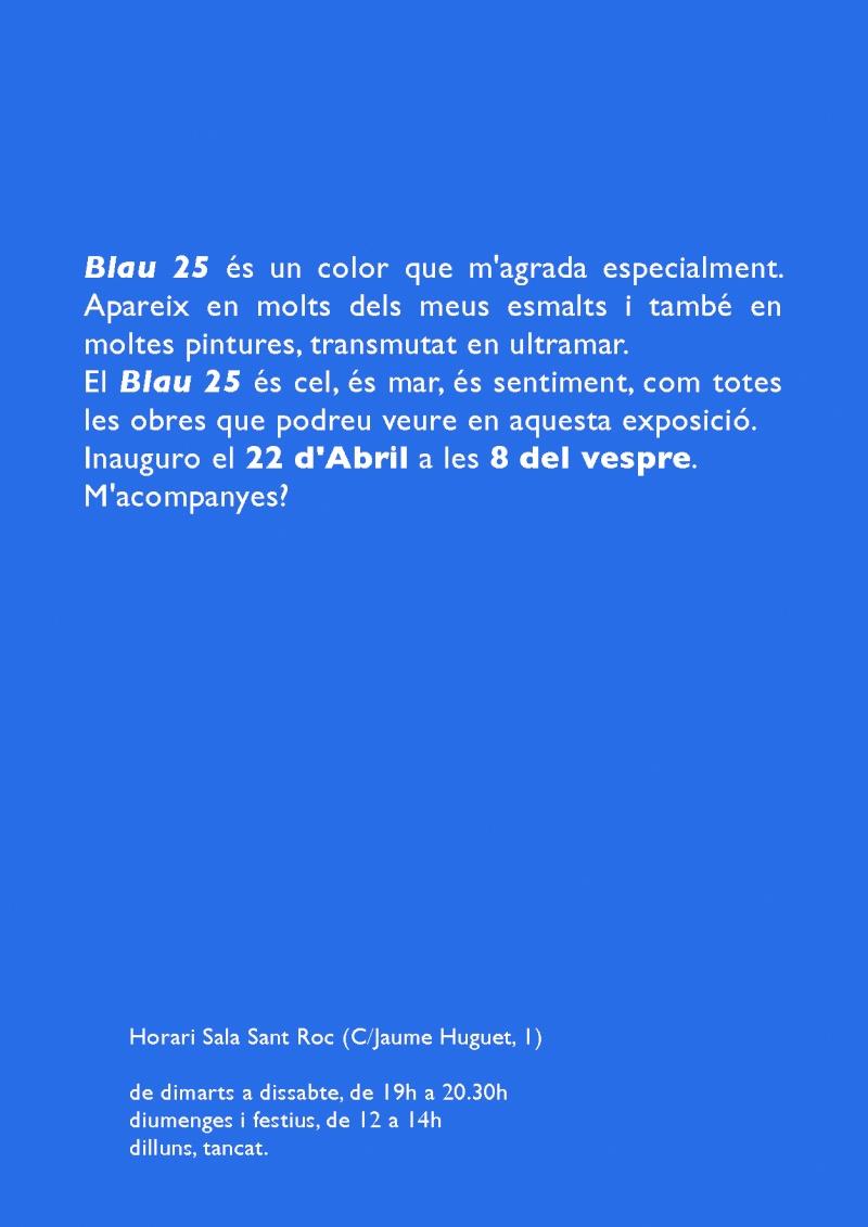 TERESA ULLDEMOLINS - EXPOSICIÓN BLAU 25 Cartel11