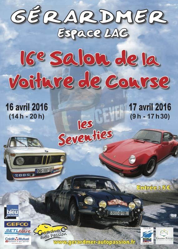 (88)[16/17/04/16]16 salon voitures de course  Gerardmer Affich10