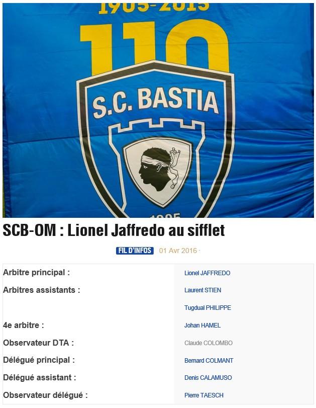 Avant match : Bastia - Marseille S11