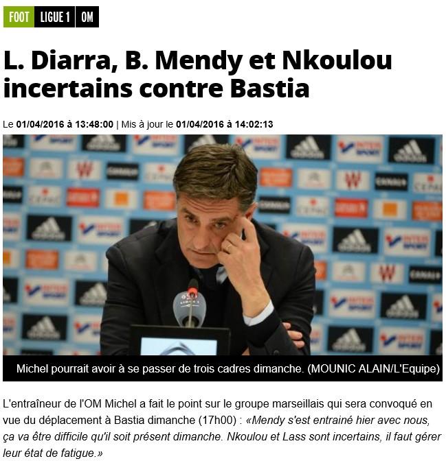 Avant match : Bastia - Marseille S13